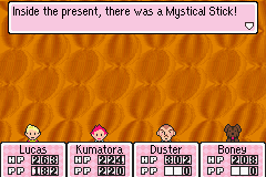 Mother 3 (english translation) - Battle  - YES! - User Screenshot