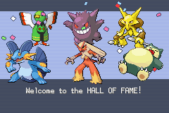 Pokemon Fire Red Omega - The end of the journey. (all lvl 60-66) - User Screenshot