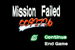 Naruto - Ninja Council 2 - Gameover  - Oops, I died... - User Screenshot
