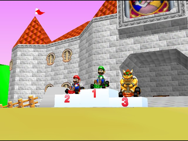 Mario Kart 64 - Ending  - I got first place! - User Screenshot
