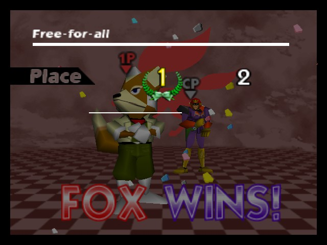 Super Smash Bros. - Battle  - I won! - User Screenshot