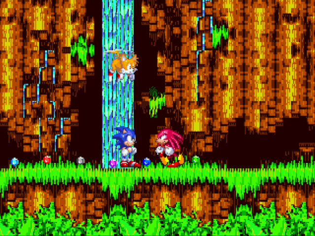 Sonic the Hedgehog 3 - Cut-Scene  - Hi, Knuckles! ...Hey, give those back! - User Screenshot