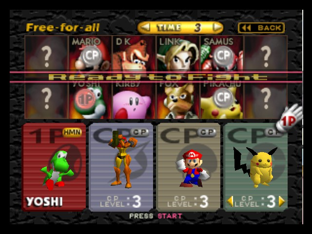Super Smash Bros. - Character Select  - Dat Pikachu tho. - User Screenshot