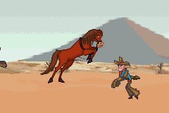 Home on the Range - Level  -  horse beating cowboys in level 1 - User Screenshot