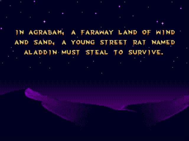 Aladdin - Cut-Scene  -  cut-scene - User Screenshot