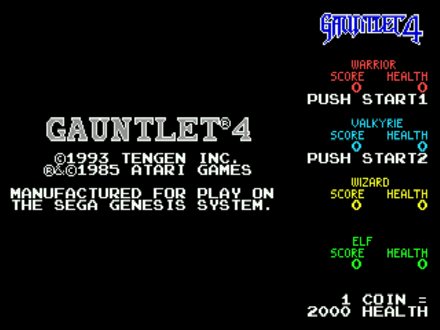 Gauntlet 4 - Introduction  -  introduction - User Screenshot