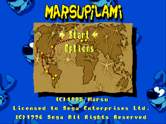 Marsupilami - Menus  -  game menu - User Screenshot