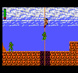 Rastan - Misc  -  climbing a rope - User Screenshot