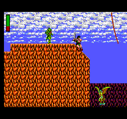 Rastan - Misc  - sliding down a slippery ledge - User Screenshot
