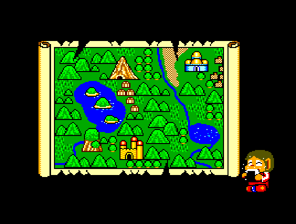 Alex Kidd in Miracle World - World Map  -  world map - User Screenshot