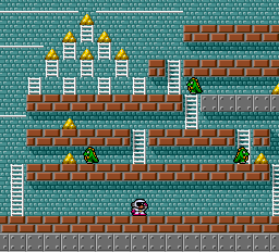 Battle Lode Runner - Level  - the jurassic period  australia stage 2 - User Screenshot
