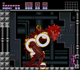 Super Metroid - Boss Rush Mode - Mother Brain, Down - User Screenshot