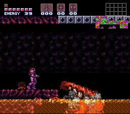 Super Metroid - Boss Rush Mode - Crocomire, Down - User Screenshot