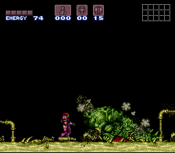 Super Metroid - Boss Rush Mode - Draygon, Down - User Screenshot