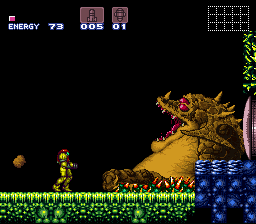 Super Metroid - Boss Rush Mode - Kraid, Down - User Screenshot
