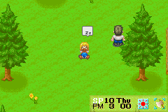 Harvest Moon - More Friends of Mineral Town - OMG hes staring at nothin - User Screenshot