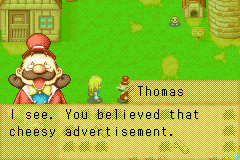 harvest moon more friends of mineral town gba: