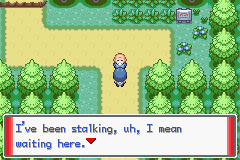 Pokemon Sienna (beta 3.1) - Location  - stranger danger someone call the police!!  - User Screenshot