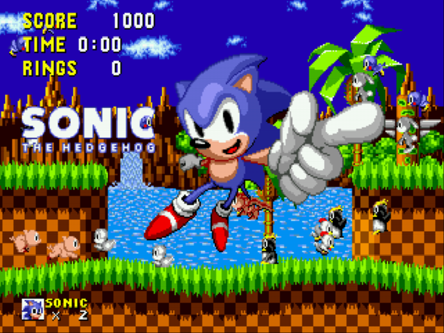 Sonic the Hedgehog - Ending  - That rabbit is perched on Sonic