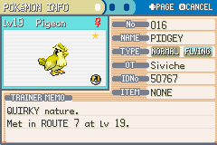 Pokemon Leaf Green - Shiny Pidgey!!!! - User Screenshot