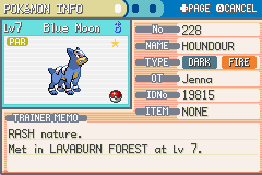 Pokemon Dark Rising - Character Profile  - Shiny houndour :) - User Screenshot