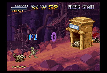Metal Slug X - Misc Mummy - You can become a mummy at Level 2. - User Screenshot