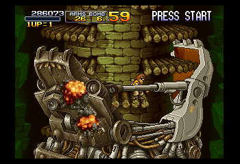 Metal Slug X - Level Level 2 (Boss Battle) -  - User Screenshot