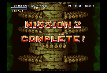 Metal Slug X - Misc Mission Complete - Screen for completing a level. - User Screenshot