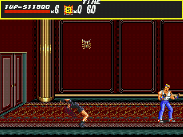 Streets of Rage - Level Boss Room Entrance - Oh dear, I hate that part... - User Screenshot