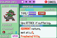 Pokemon Victory Fire (beta 1.75) - hell yeah my team have pokerus - User Screenshot