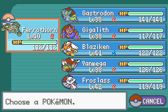 Pokemon - Yet Another Fire Red Hack - my tean at erika - User Screenshot