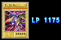 Yu-Gi-Oh! - The Sacred Cards - F.G.D. finishing of an opponent with 1175lp - User Screenshot
