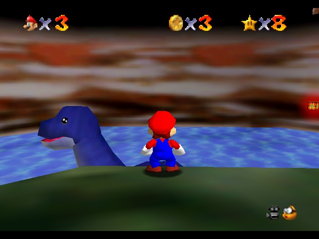 Super Mario 64 - Freaking Nessie. Really XD - User Screenshot