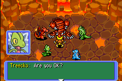 Pokemon Mystery Dungeon - Red Rescue Team - Battle  - Ummm No !! You Killed the Land Creater !! - User Screenshot