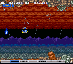 Parodius - Non-Sense Fantasy - I has an umbrella! - User Screenshot
