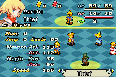 Final Fantasy Tactics Advance Anarchy - Character Profile Human Thief Stats -  - User Screenshot