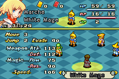 Final Fantasy Tactics Advance Anarchy - Character Profile Human White Mage Stats -  - User Screenshot