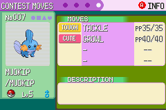 Pokemon Emerald - Character Profile Mudkip -  - User Screenshot