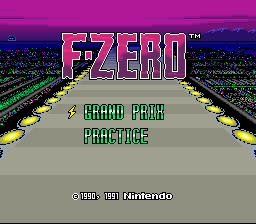 F-ZERO - Introduction  -  - User Screenshot