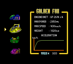 F-ZERO - Character Profile Golden Fox - Golden Fox - User Screenshot