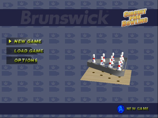 Brunswick Circuit Pro Bowling - Menus Main Menu - Main Menu - User Screenshot