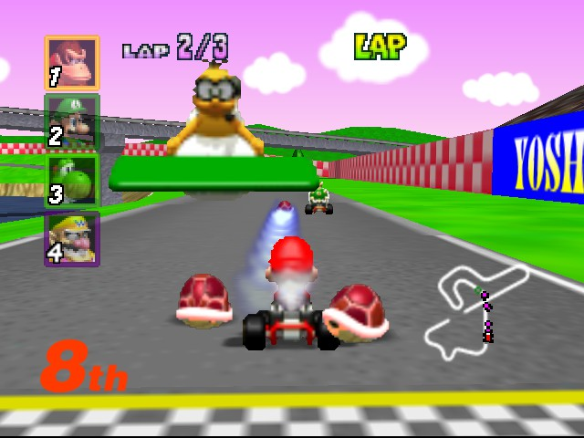 Mario Kart 64 - Misc  - Watch out for my red shells! - User Screenshot