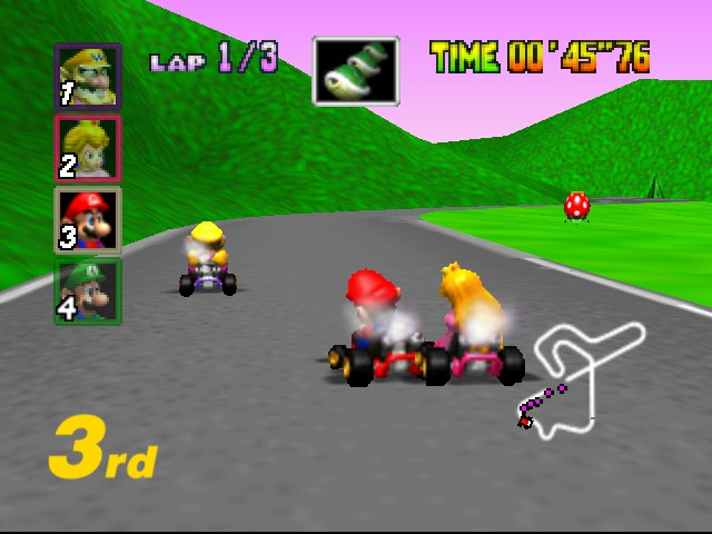 Mario Kart 64 - Misc  - GET OFF ME PEACH! - User Screenshot