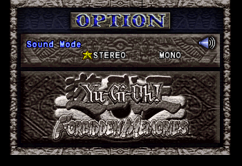 Yu-Gi-Oh! Forbidden Memories - Menus Options - Options Menu - User Screenshot