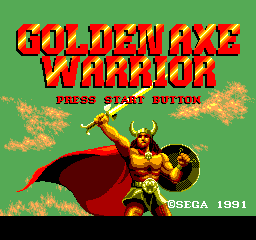 Golden Axe Warrior - Introduction  - Title screen - User Screenshot