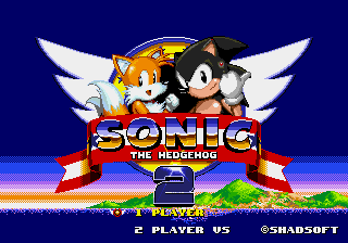 Sonic 2 - Project Shadow - black classic sonic - User Screenshot