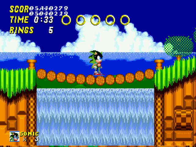 Sonic the Hedgehog 2 - Character Profile  - Omg Scourge! (Scourge Glitch) - User Screenshot