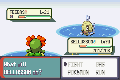 Pokemon Emerald - Battle  - Finally a Feebas :)) - User Screenshot
