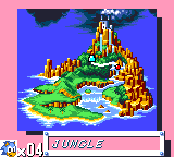 Sonic The Hedgehog - World Map Jungle Zone -  - User Screenshot