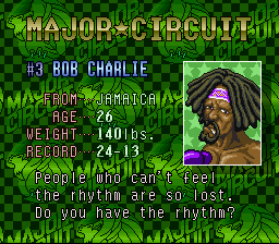 Super Punch-Out!! - Character Profile Bob Charlie -  - User Screenshot